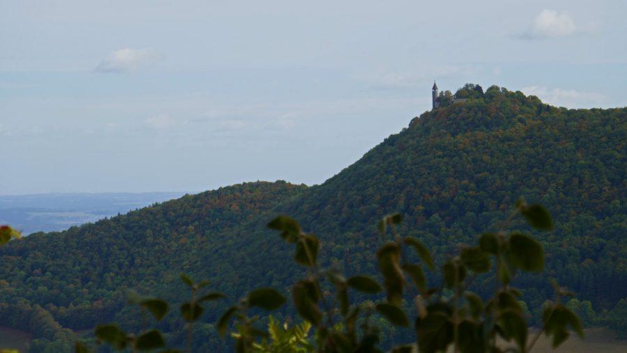 Letzter Blick zurück zur Burg Teck