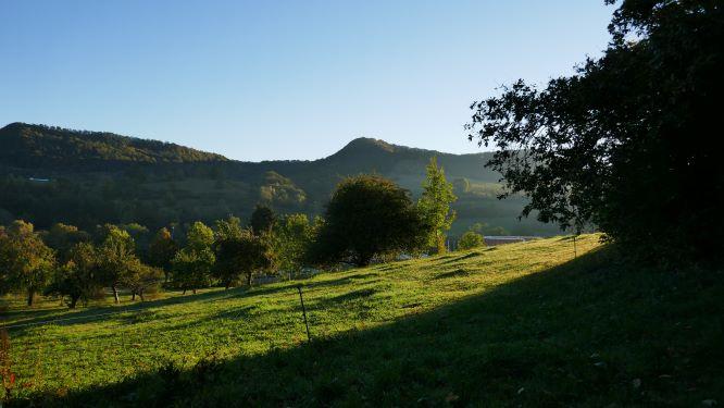 Alblandschaft im Morgenlicht