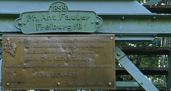 Schild am Lembergturm