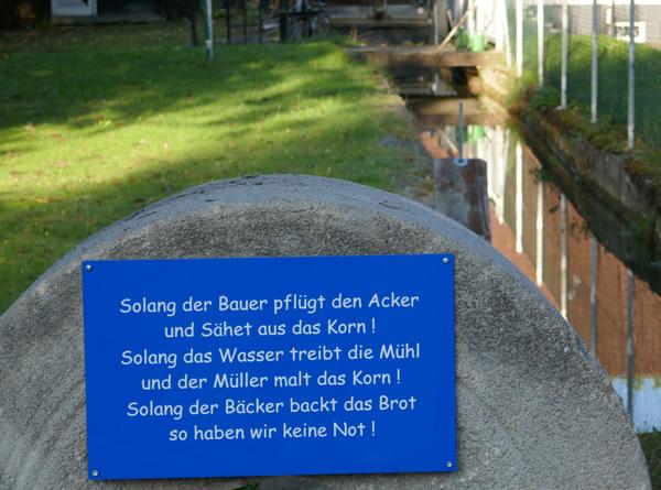Mühlstein in Laufen