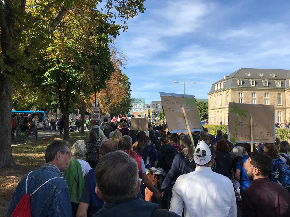 Marsch zum Schlossplatz